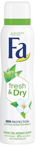 Fa Antiperspirant v spreji Fresh & Dry Green Tea Sorbet (Anti-perspirant) 150 ml