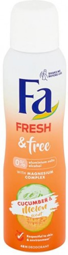 Fa Dezodorant Fresh & Free Cucumber & Melon (48H Deodorant) 150 ml