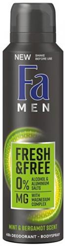 Fa Dezodorant v spreji Men Fresh & Free Mint & Bergamot (48h Deodorant Body spray) 150 ml