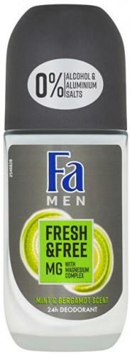 Fa Guličkový dezodorant Men Fresh & Free Mint & Bergamot (24h Deodorant) 50 ml