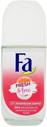 Fa Guľôčkový dezodorant Fresh & Free Grapefruit & Lychee (24H Deodorant) 50 ml