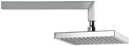 Flexton Prisma Piu - hlavová pevná sprcha na stenu, chróm, TEFL 72H18