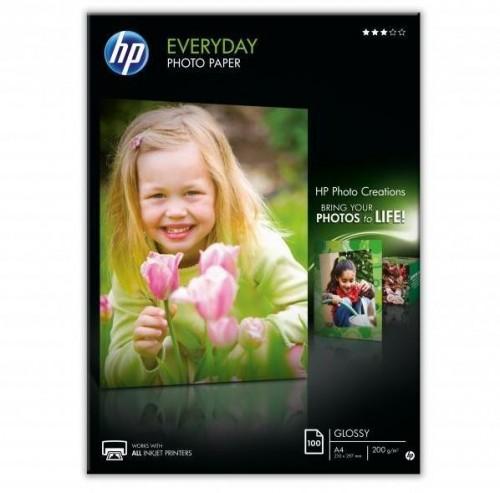 Fotopapier HP Everyday Glossy, lesklý, bílý, A4, 200 g/m2, 100 ks...