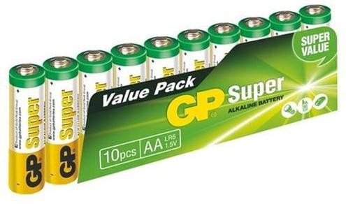 GP Super Alkaline 10ks AA 1013200102