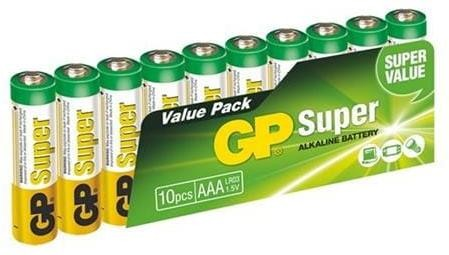 GP Super Alkaline 10ks AAA 1013100102