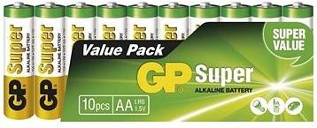 GP Super Alkaline LR6 (AA) 10ks v blistru
