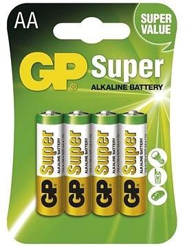 GP Super Alkaline LR6 (AA) 4ks v blistru