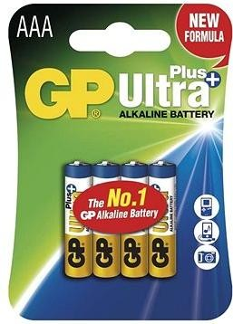 GP Ultra Plus Alkaline LR03 (AAA) 4ks v blistru