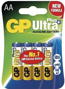 GP Ultra Plus Alkaline LR6 (AA) 4ks v blistru