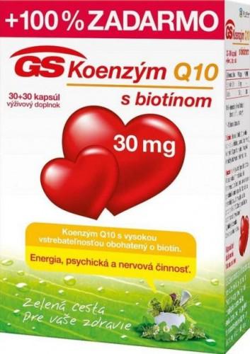 GS Koenzým Q10 30 mg cps 30+30 (60 ks)