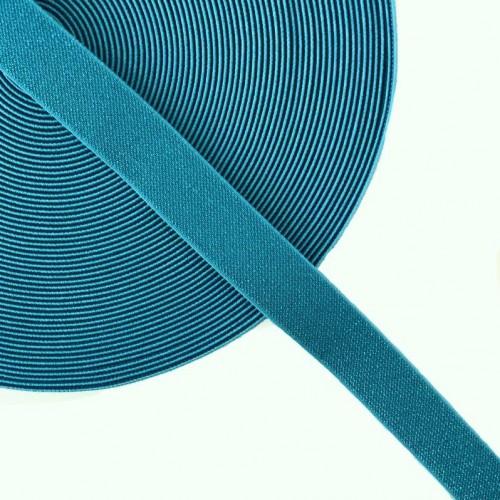 Guma hladká 2,5 cm glitter blue