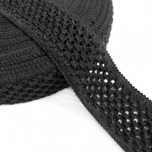 Guma pletená 5 cm black