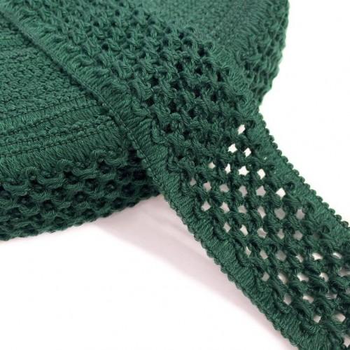 Guma pletená 5 cm bottle green