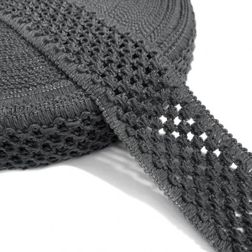 Guma pletená 5 cm dark grey