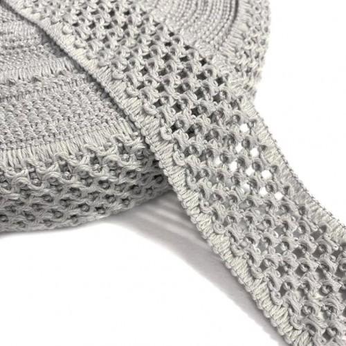 Guma pletená 5 cm light grey