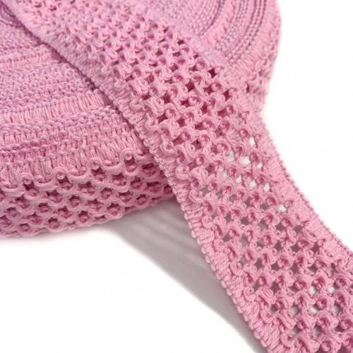 Guma pletená 5 cm pink