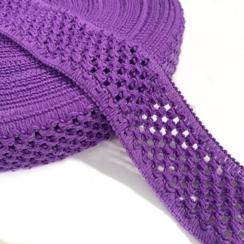 Guma pletená 5 cm purple