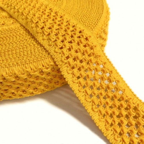 Guma pletená 5 cm yellow