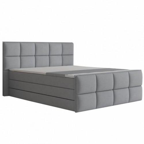 Komfortná posteľ, sivá látka, 180x200, RAVENA KOMFORT