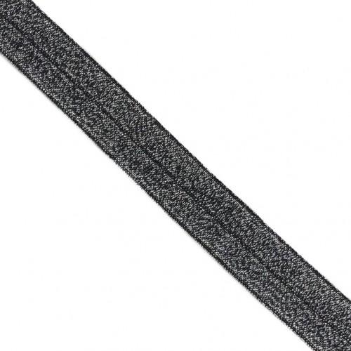Lemovacia guma glitter 20 mm black