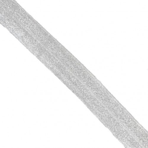 Lemovacia guma glitter 20 mm white