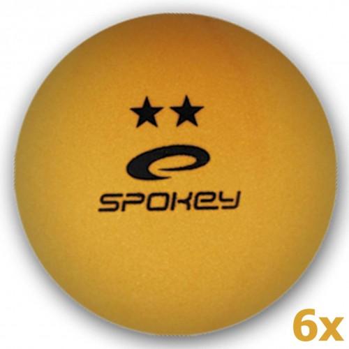 Loptičky na stolný tenis SPOKEY Skilled 6ks