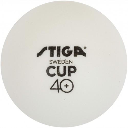 Loptičky na stolný tenis STIGA CUP ABS - biele 6ks