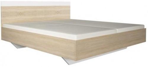 Manželská posteľ, dub sonoma/biela, 180x200, GABRIELA