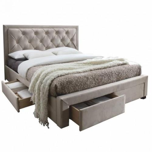 Manželská posteľ, sivohnedá, 160x200, OREA