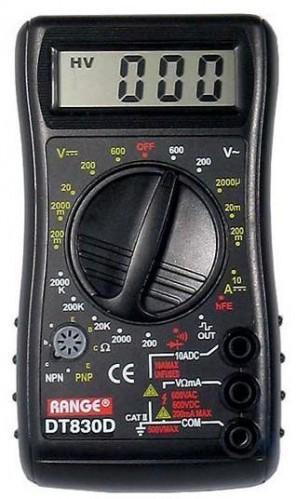 Multimeter DT830D RANGE
