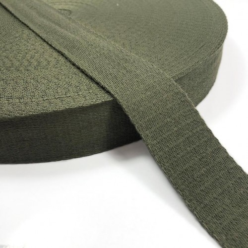 Popruh bavlna 4 cm army