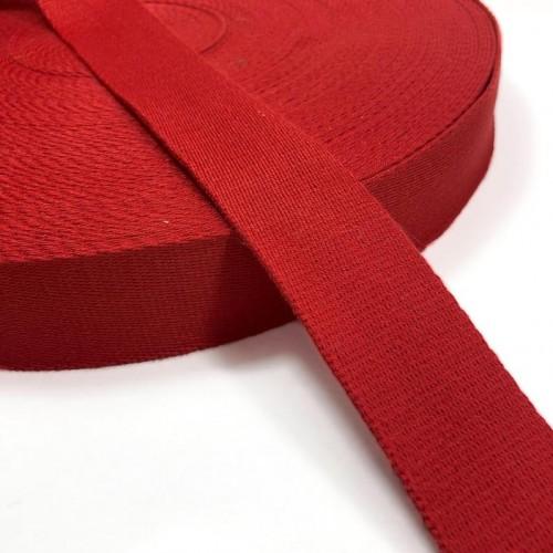 Popruh bavlna 4 cm red