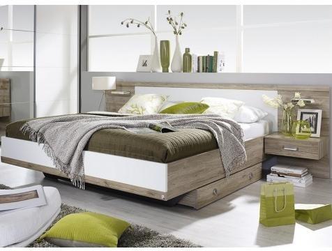 Postel s nocnými stolíkmi 180x200 cm