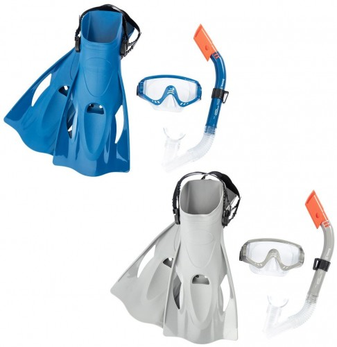 Potápačský set BESTWAY Hydro Swim 25020 s plutvami - modrý
