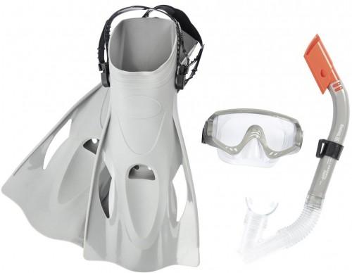 Potápačský set BESTWAY Hydro Swim 25020 s plutvami - sivý