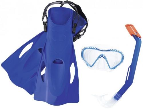 Potápačský set BESTWAY Hydro Swim 25025 s plutvami - modrý