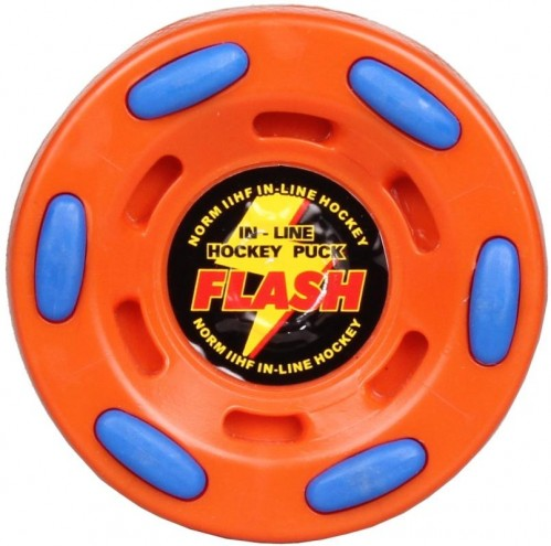 Puk na in-line hokej FLASH - oranžový