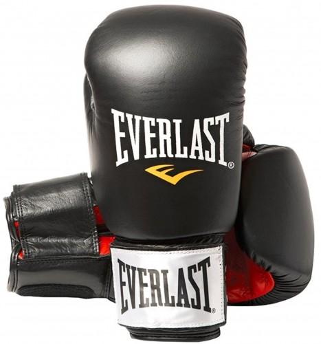 Rukavice kožené EVERLAST Fighter - čierne