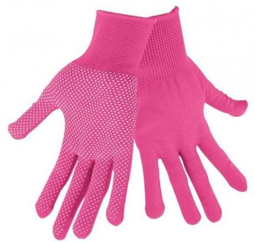 Rukavice z polyesteru s PVC terčíkmi na dlani, veľkosť 7