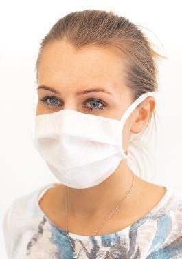 Rúška z netkanej textílie 2 kusy - ochrana dýchacích ciest