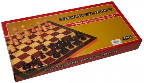 Šachy drevené Extra