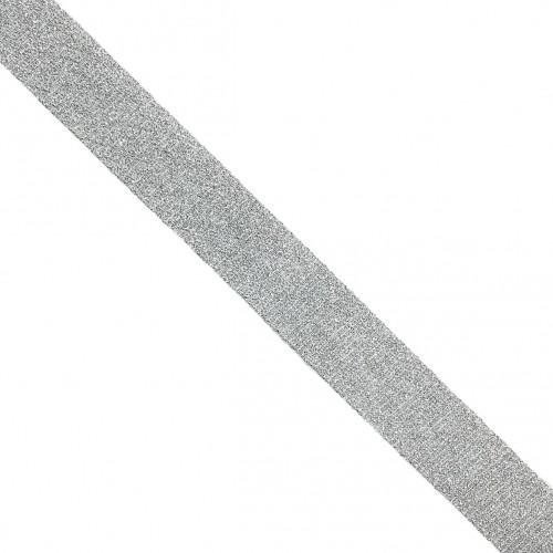 Šikmý prúžok LUREX white