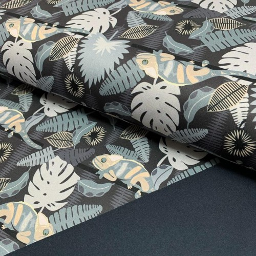 Softshell SPORT Tropic grey digital print