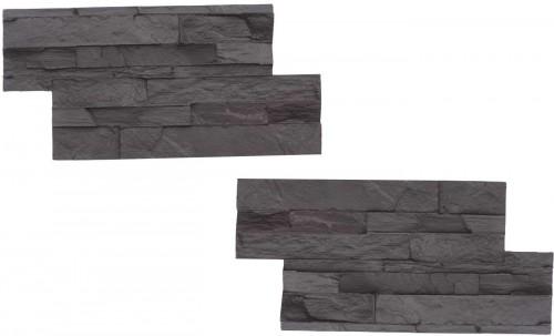 STAMP Lámaný kameň SET 2ks - 2 raznice na výrobu obkladu lámaného kameňa - LK1 + LK1 - 2x 39x 19 cm