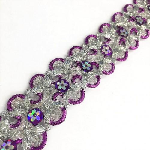 Stuha Sequin purple