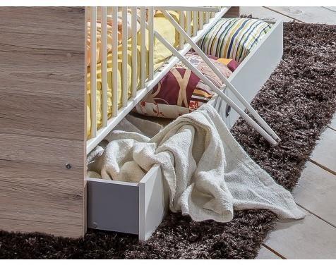 Zásuvka pod detskú postielku š/v/h: 70x16x140 cm