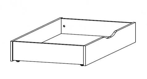 Zásuvka pod postel š/v/h: 59x16x115 cm