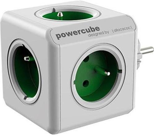 Zásuvka PowerCube ORIGINAL, Green, 5-ti rozbočka 423649