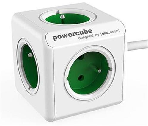 Zásuvka predlž. PowerCube EXTENDED, Green, 5-ti rozbočka, kabel 1,5m 423657