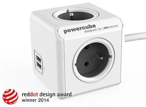 Zásuvka predlž. PowerCube EXTENDED USB, Grey, 4 rozbočka, 2x USB, kabel 1,5m 423681
